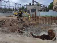 Погружение шпунта при реконструкции электрической подстанции