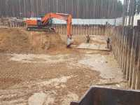 Устройство шпунтового ограждения в Ленинградской области при строительстве спа комплекса